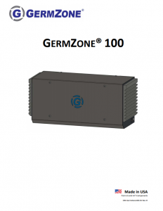 medical grade air purification for schools GermZone-100-Product-Manual-10062020
